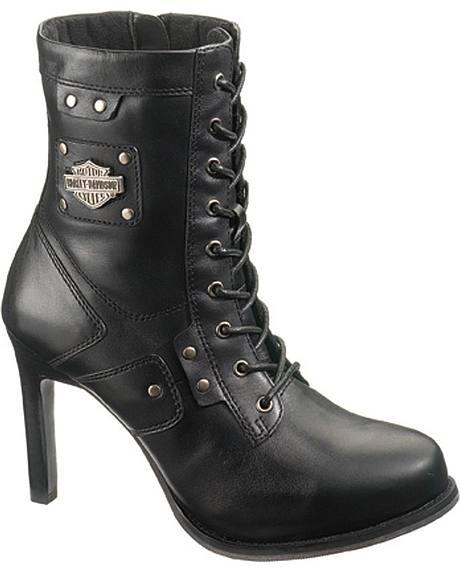 Harley Davidson Vikki Lace-Up Boots - Round Toe