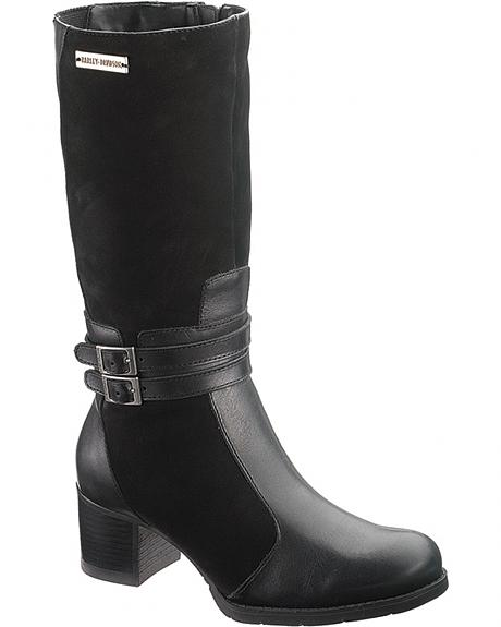 Harley Davidson Laure Motorcycle Boots - Round Toe