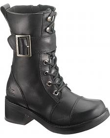 Harley Davidson Jammie Motorcycle Boots - Round Toe