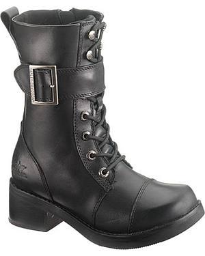 Harley Davidson Jammie Womens Black Boots - Round Toe