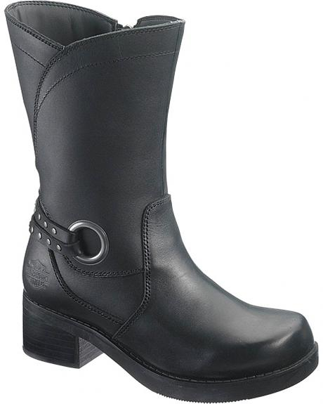 Harley Davidson Lise Motorcycle Boots - Round Toe