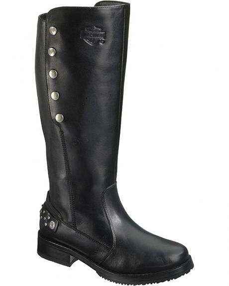 Harley Davidson Mollie Motorcycle Boots - Round Toe