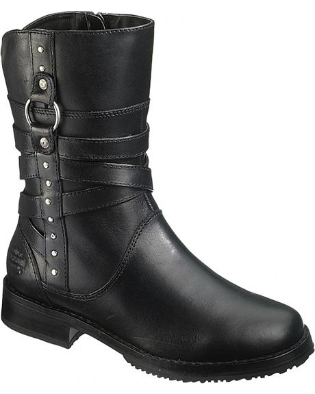 Harley Davidson Nora Motorcycle Boots - Round Toe