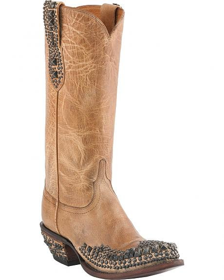 Lucchese Handcrafted 1883 Joan Rocker Glam Studs Cowgirl Boots
