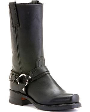 Frye Womens Belted Harness Boots