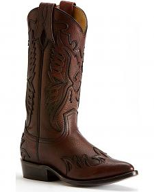 Frye Women's Dark Brown Billy Firebird Tall Cowgirl Boots