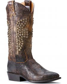 Frye Women's Billy Hammered Stud Tall Cowgirl Boots