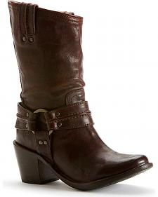 Frye Women's Carmen Harness Short Boots - Round Toe