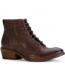 Frye Women's Carson Lace Up Shoe Boots - Round Toe