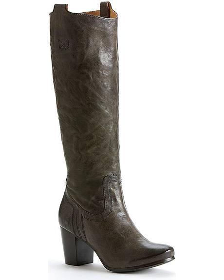 Frye Women's Carson Mid Heel Tab Boots - Round Toe