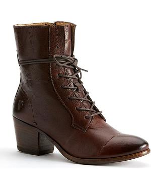 Frye Womens Courtney Lace-Up Boots - Round Toe