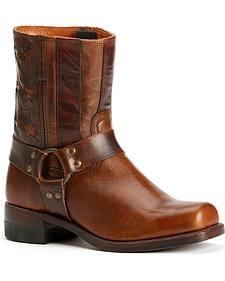 Frye Women's Harness Americana Short Boots - Square Toe