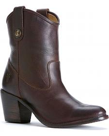Frye Women's Jackie Button Short Boots - Round Toe