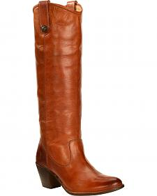 Frye Women's Jackie Button Rididng Boots - Round Toe