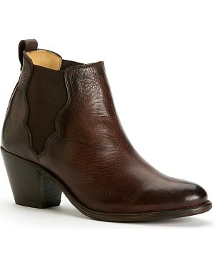 Frye Womens Jackie Gore Stitching Horse Boots - Round Toe