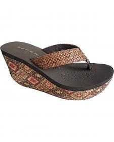 Roper Women's Aztec Cork Wedge Sandals