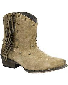Roper Women's Fringe Short Boots - Snip Toe