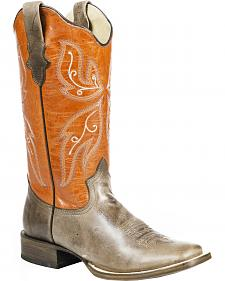 Roper Butterfly Cowgirl Boots - Square Toe