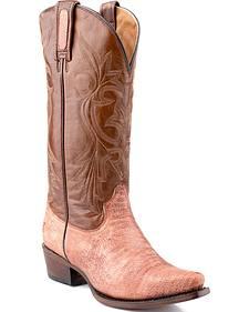 Roper Rust Teju Lizard Print Cowgirl Boots - Snip Toe