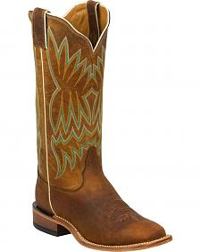 Tony Lama Soft Honey Americana Cowgirl Boots - Square Toe