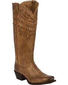 Tony Lama Latigo Tucson 100% Vaquero Cowgirl Boots - Square Toe
