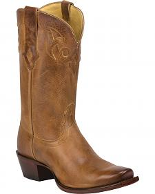Tony Lama Burnished Tan Reno 100% Vaquero Cowgirl Boots - Square Toe