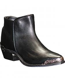 Abilene Women's Black Demi Zipper Boots - Snip Toe