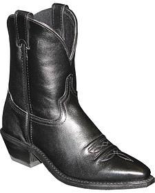 "Abilene Black 7"" Cowgirl Boots - Snip Toe"