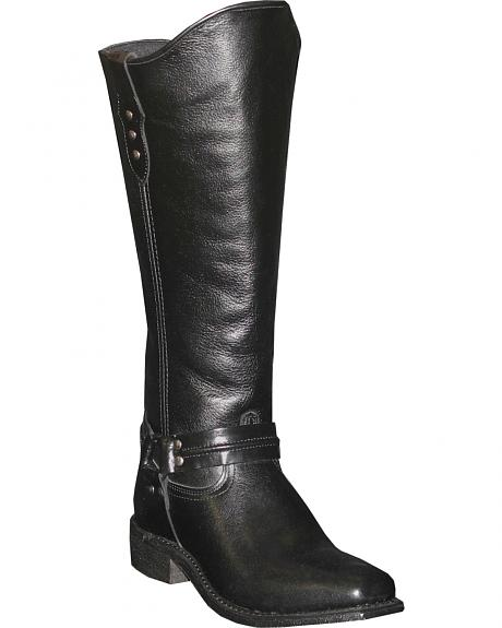 Abilene Women's Black Equestrian Wellington Boots - Square Toe