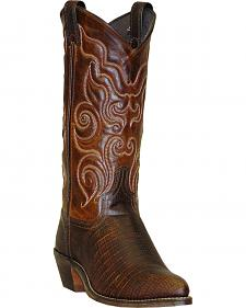 Abilene Brown Teju Lizard Print Cowgirl Boots - Round Toe