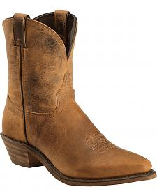 "Abilene Distressed Brown 7"" Cowgirl Boots - Snip Toe"