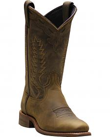 Abilene Women's Brown Western Cowgirl Boots - Square Toe