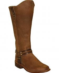 Abilene Women's Brown Equestrian Wellington Boots - Square Toe