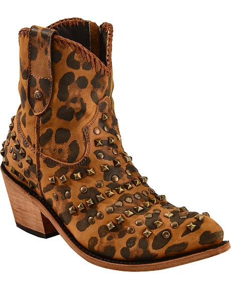 Liberty Black Women's Chita Miel Leopard Booties -  Pointed Toe