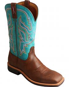 Twisted X Turquoise Top Hand Cowgirl Boots - Square Toe