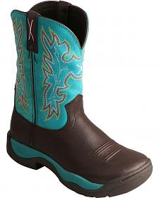 Twisted X Brown All Around Turquoise Cowgirl Boots - Round Toe
