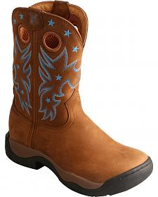 Twisted X Brown All Around Waterproof Cowgirl Boots - Round Toe
