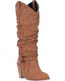 Dingo Tan Morgan Slouch Cowgirl Boots - Round Toe