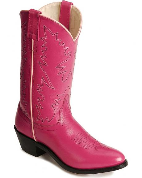 Old West Corona Leather Cowgirl Boots