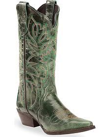 Laredo Turquoise Leeza Cowgirl Boots - Snip Toe