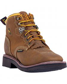 Dan Post Women's Tan Mesa Waterproof Work Boots - Soft Square Toe