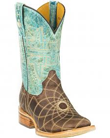 Tin Haul Dreamcatcher Cowgirl Boots - Square Toe