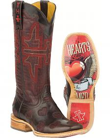 Tin Haul Wild Hearts Cowgirl Boots - Square Toe