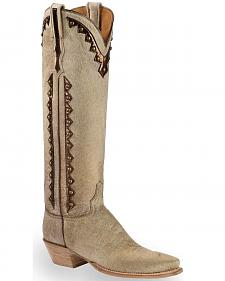 Lucchese Calf Hair Danielle Tall Cowgirl Boots - Pointed Toe