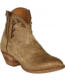 Lucchese Tan Hair-On Calf Demi Cowgirl Booties - Pointed Toe