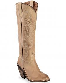 Lucchese Tan Vanessa Cowgirl Boots - Round Toe
