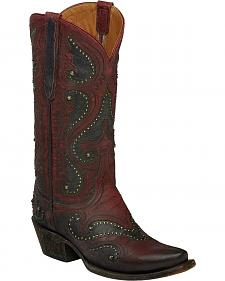 Lucchese Red Ombre Gemma Cowgirl Boots - Snip Toe