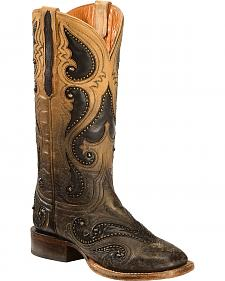 Lucchese Pearl Ombre Rita Cowgirl Boots - Square Toe