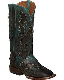 Lucchese Aqua Ombre Rita Cowgirl Boots - Square Toe