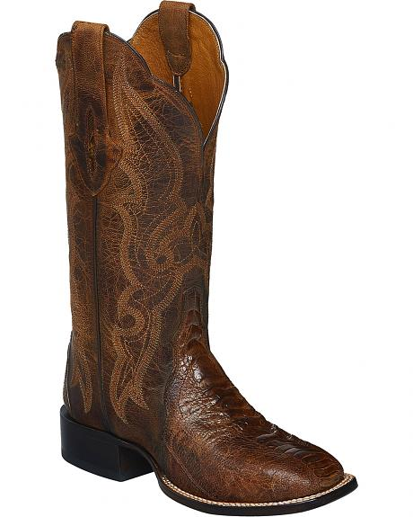 Lucchese Burnished Marissa Ostrich Leg Cowgirl Boots - Square Toe